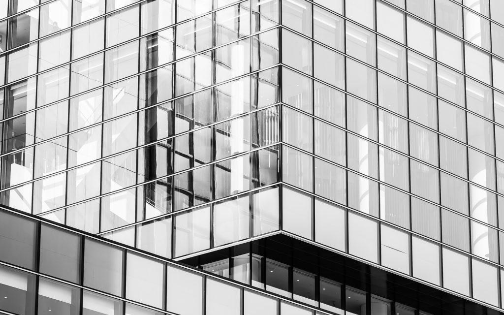 batiment, vitre, structure b