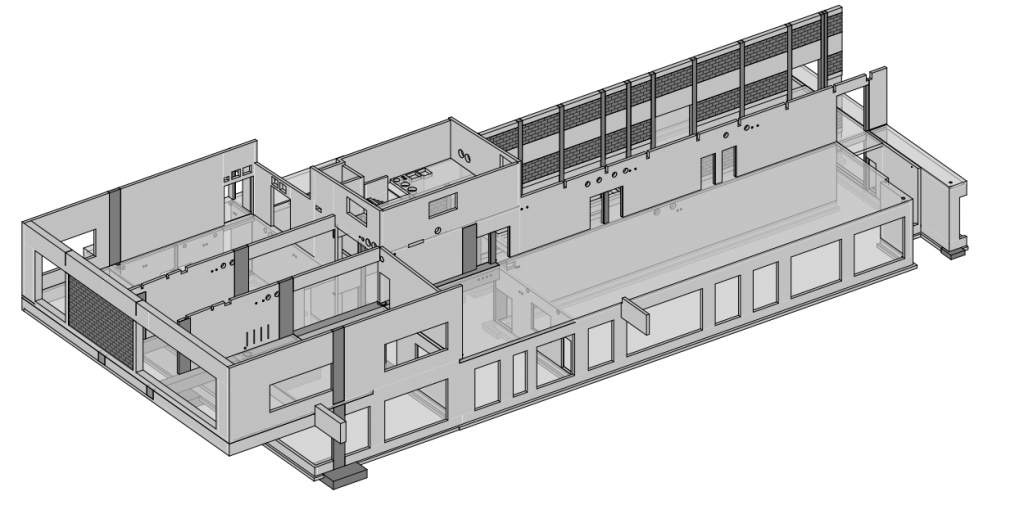 plan 3D, structure b